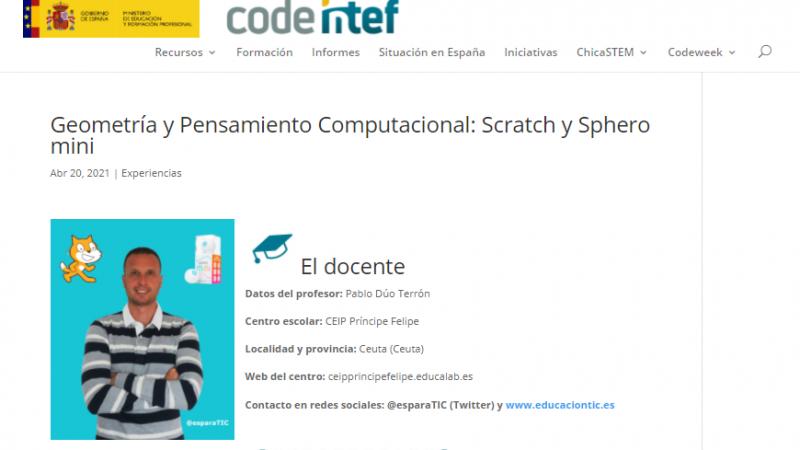 Geometría y Pensamiento Computacional: Scratch y Sphero mini